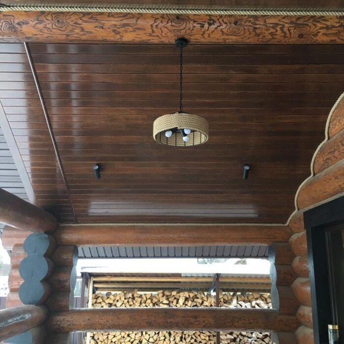 Осиновый полок на потолке фото пример